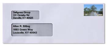 2-Window Envelope Addressed