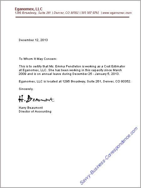 confirmation of employment letter for uk visa application