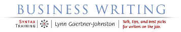 Business Writing Blog