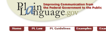Plain Language Guidelines