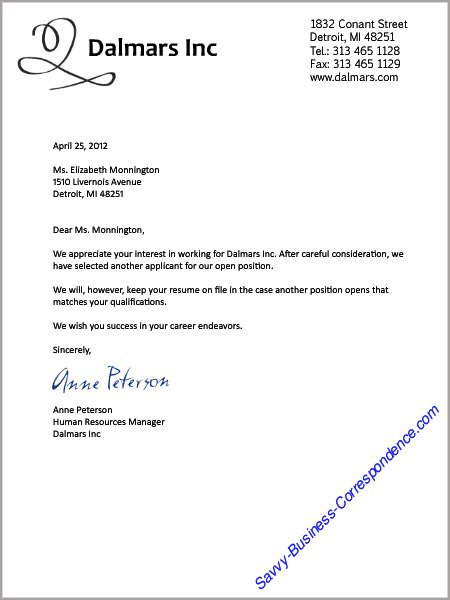 Business Letters Job Search – Sample Job Reference Letter