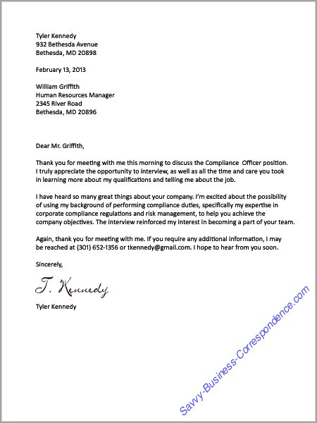 Business Letters Employment – Thank You Letters for Job Offer