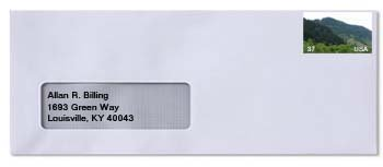 1 Window Envelope Addressed