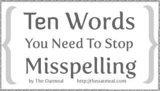 10 Misspelled Words Comics
