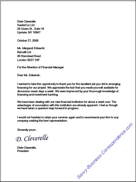 full block business letter format