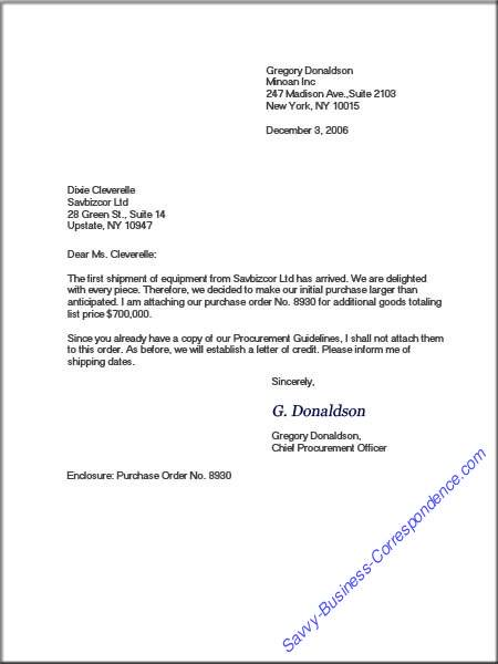 Modified Block Business Letter