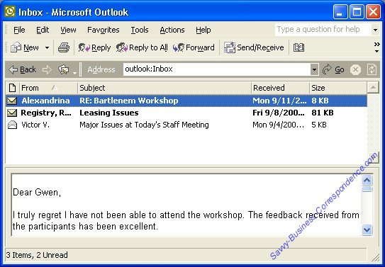 Microsoft Outlook Email Inbox