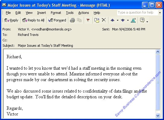 Microsoft Outlook Email Message