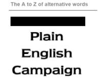 Plain Language Alternatives